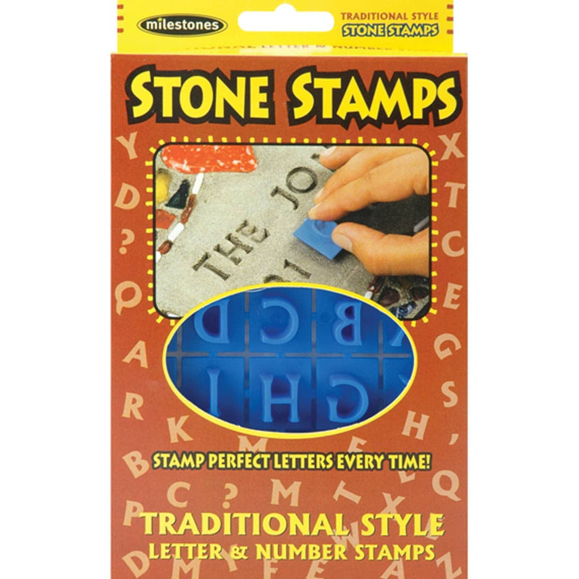 Stone Stamps-Traditional Style Letters & Numbers - image 2 of 4