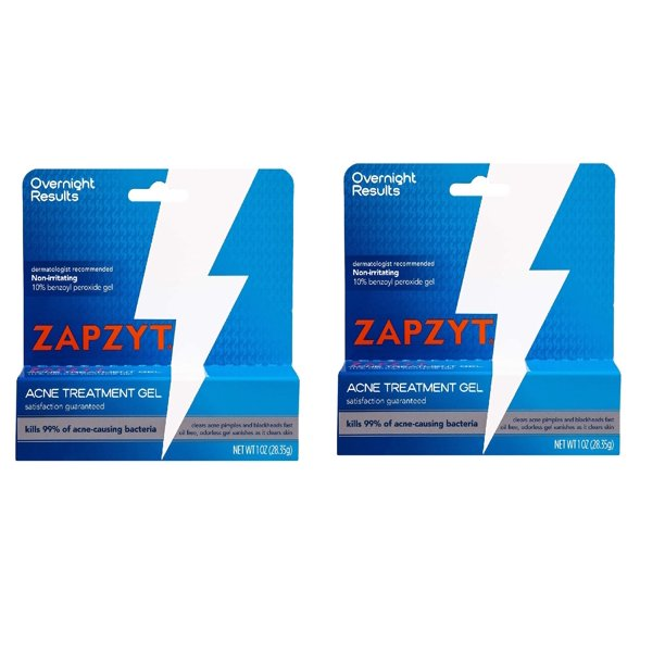Zapzyt Acne Treatment Gel 1 Oz Pack Of 2 Walmart Com Walmart Com