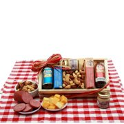 Divine Delights Deluxe Meat and Cheese Gift Basket | Cheese, Crackers and Snacks