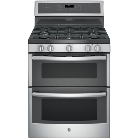 PGB960SEJSS 30 Freestanding Double Oven Gas Range with 6.8 cu. ft. Total Capacity  5 Burners  Convection  Self-Clean  Grill/Griddle  and Star-K Certified  in Stainless