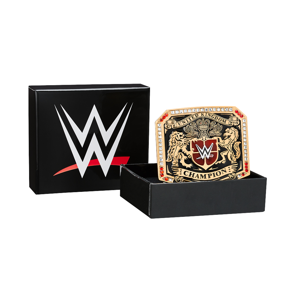 Official Wwe Authentic  United Kingdom Championship Belt Buckle Multi