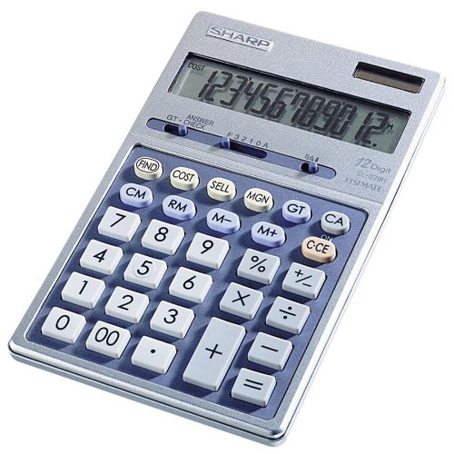 "Sharp El339hb Desktop Display Calculator - 12 Character[s] - Lcd - Solar, Battery Powered - 6.9"" X 4.3"" X 0.7"" (EL339HB)"