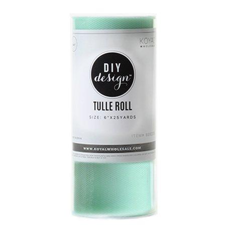 Koyal Wholesale Tulle Roll 6 Inches by 25 Yard / 75 Feet Mint for Wedding Decor, Baby Shower, Tutu Fabric