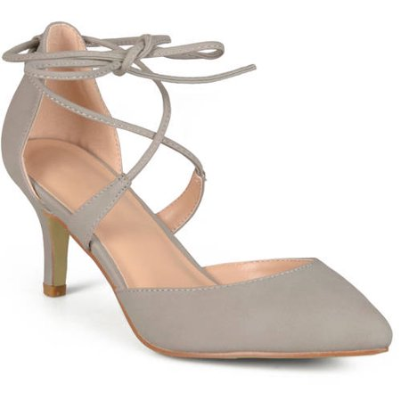Brinley Co. - Womens Pointed Toe Lace-up Ankle Strap Pumps - Walmart.com