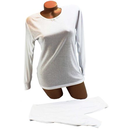 Seven Apparel Silky Knit Top And Bottom Long Underwear
