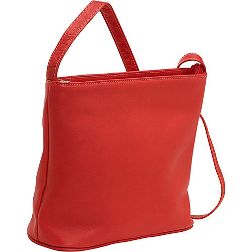 Le Donne Leather Zip Top Shoulder Bag