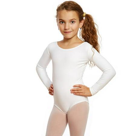 c00bddcb5c835 Leveret - Girls Leotard Basic Long Sleeve Ballet Dance Leotard Kids &  Toddler Shirt (2-14 Years) Variety of Colors - Walmart.com