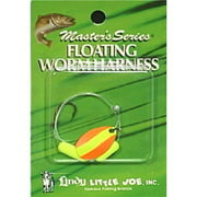 Little Joe Floating Worm Harness Fishing Lure Harness Orange Yellow Blade Yellow Float 36 inch length Snell