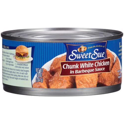 Sweet Sue Chunk White Chicken in Barbeque Sauce, 10 oz