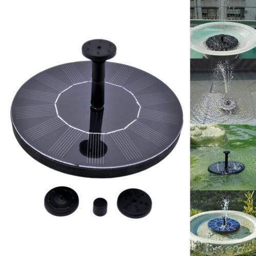 Solar Power Fountain Water Pump Floating Panel Pool Garden Pond For Bird Bath US