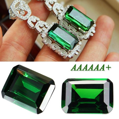 Lab Created Emerald 30ct Green Loose Gemstone Emerald Natural Mined Colombia Emerald Cut AAAAAA  DIY Accessories Rectangle Style Ornaments Solid for Jewelry Stud Earrings Necklace Element Jewelry Rectangle Earrings