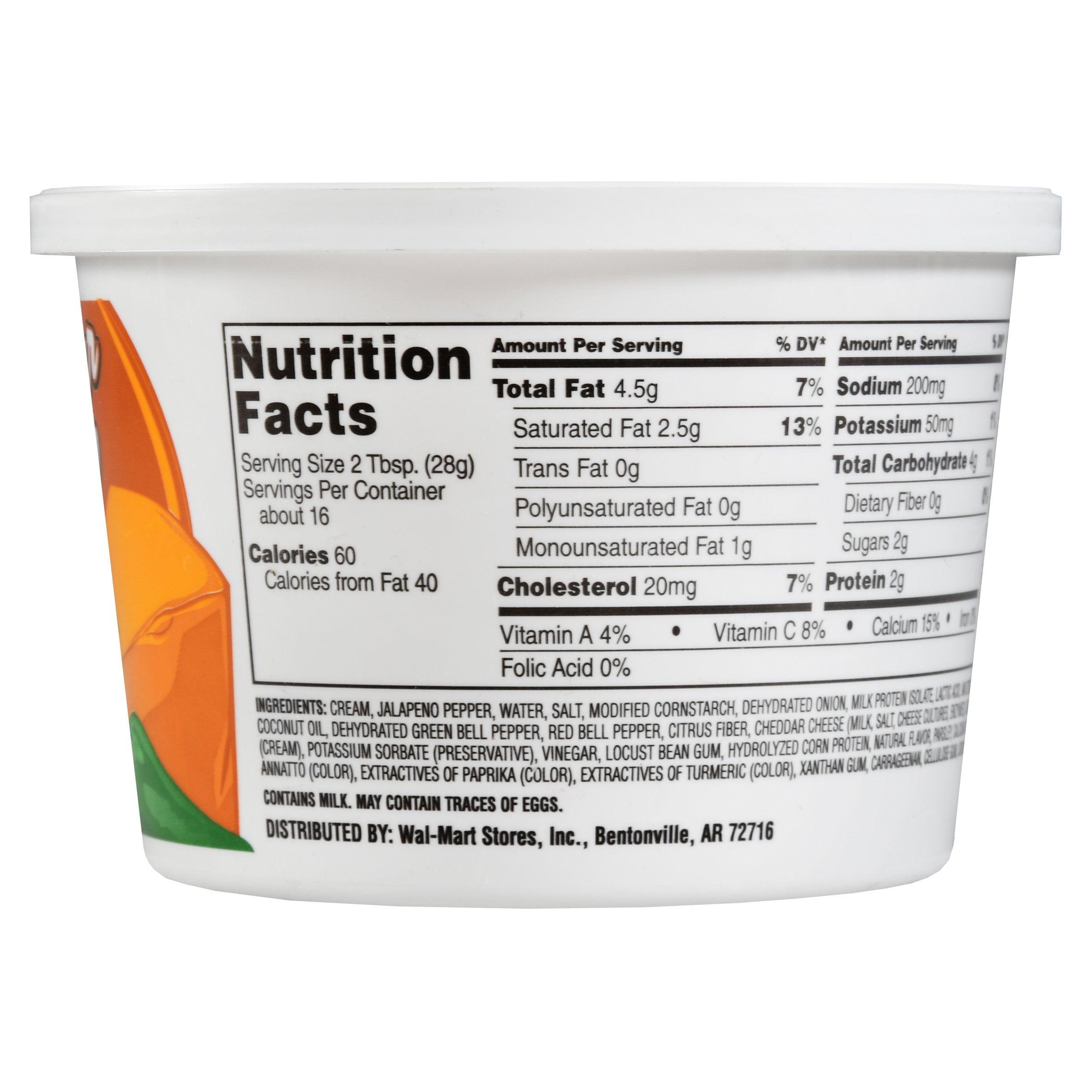 bbd74e64bbfa Great Value Sour Cream Cheddar Jalapeno Dip