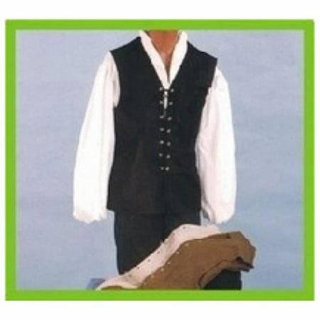 24-116-NA Male Renaissance Vest, Natural - (Men's Renaissance Vest)