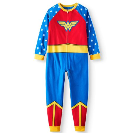 Wonder Woman Girls' Poly 1-Piece Footless Sleeper
