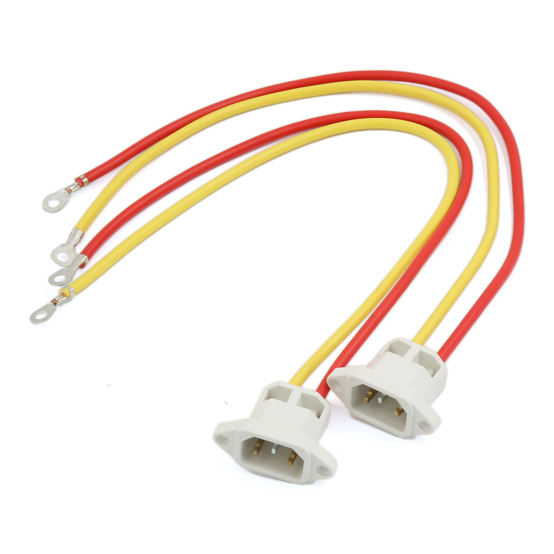 Electric Tricycle Bicycle 2-Wires 3 Terminals Male Charging Plug Adapter 2pcs