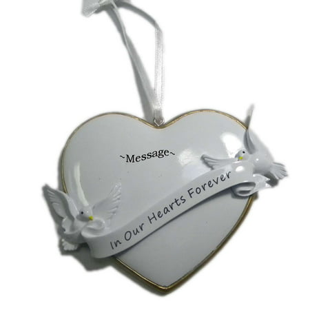 Personalized White Heart Christmas Holiday Gift Expertly Handwritten Ornament, FREE PERSONALIZATION By Rudolph and Me