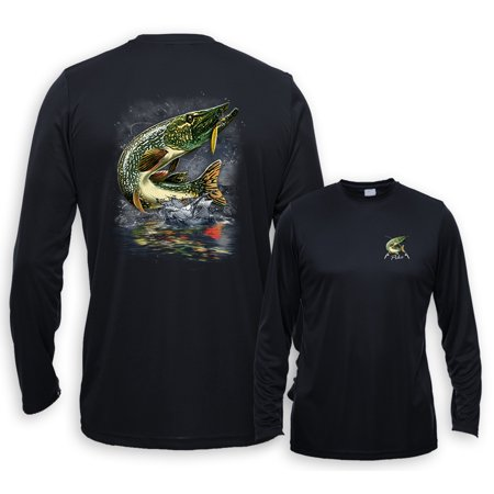 UV Performance Long Sleeve Jumping Northern Pike Fishing Control Uv Long Sleeve Top