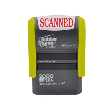 Scanned Self Inking Stamp, Printer 20 with 2 Pads - Red Ink 2 Self Inking