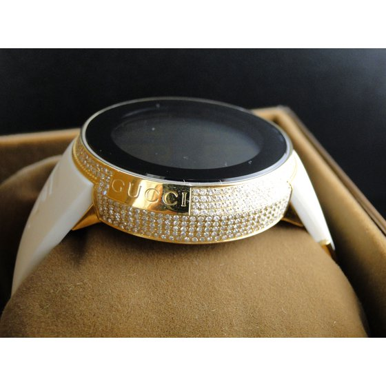 0d858ada40c Gucci - I Digital Grammy Gold White Diamond Watch YA114216 - Walmart.com