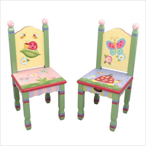 Fantasy Fields Hand Painted Magic Garden Set of 2 Chairs