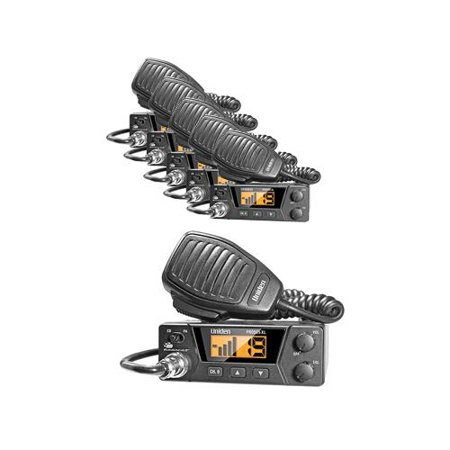 Uniden PRO505XL Compact 2 way CB Radio With Channel Indicator (6 Pack) by
