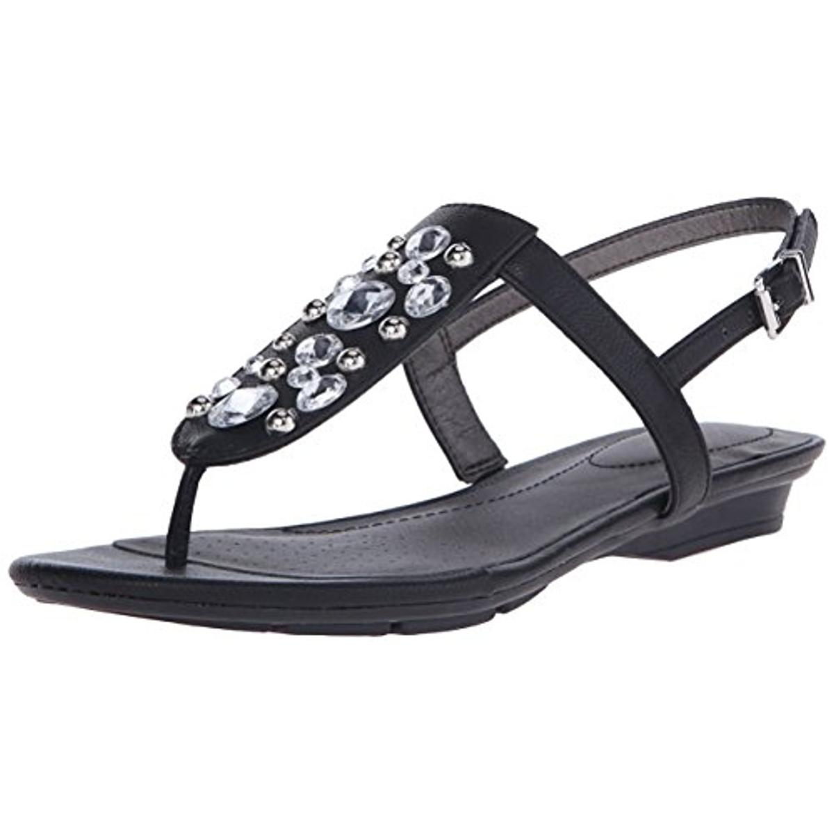 Lifestride Womens Envy Faux Leather Embellished Slingback Sandals by LifeStride