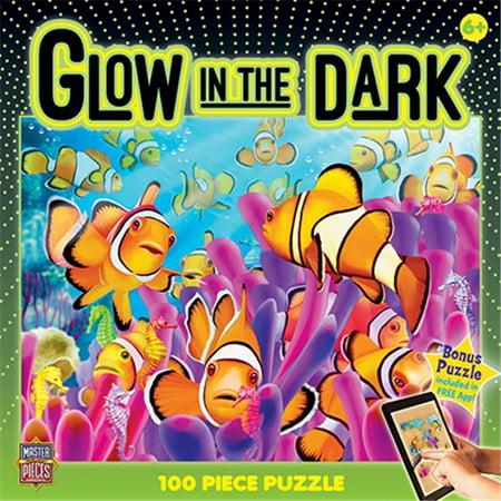 MasterPieces Glow in the Dark Clownfish - 100 Piece Kids Puzzle
