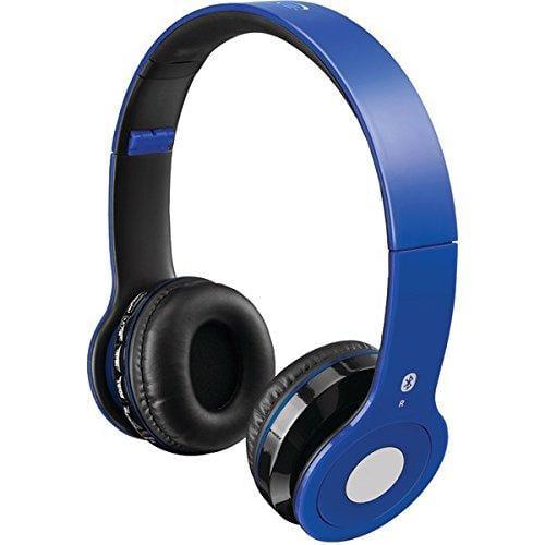 Ilive Wireless Bluetooth Headphones Iahb16bu - Stereo - Blue - Mini-phone - Wired/wireless - Bluetooth - 33 Ft - 32 Ohm - 20 Hz 20 Khz - Over-the-head - Binaural - Circumaural
