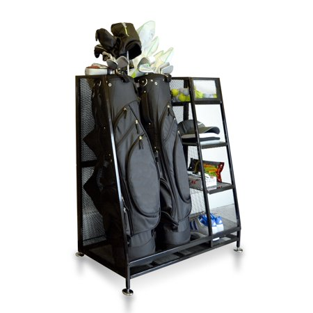 Milliard  Golf Organizer - Extra Large Size - Fit 2 Golf Bags and Other Golfing Equipment  This Handy Storage Rack Golf Bag Organizer