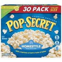 Pop Secret Microwave Popcorn, Homestyle, 3 Oz, 30 Ct