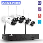 Wireless NVR Kit 3MP HD WIFI Home Security Camera Monitor K8208-8 8CH NVR + 4 Cameras Security Surveillance System P2P Motion Detection Alarm Trigger US Plug