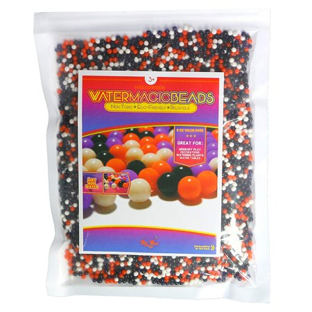 Big Mo's Toys Floral Halloween Pearl Water Beads - Orange Purple Black and White Halloween Gel Balls For Vase Or Candle Fillers For Centerpiece by (Halloween Zone Ball 2017)