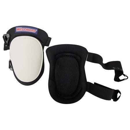 Westward 5MZH6 One Size Fits All Black/White Knee Pads ()