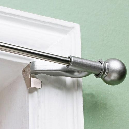 """Twist and Fit Decorative Curtain Rod, Satin Nickel, 7/16"""" rod diameter - Walmart.com"""
