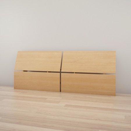 Twin Maple Headboard - Nexera 345305 Full Size Panoramic Headboard Natural Maple