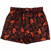 Hot Stuff Mens Black Valentine's Day Boxers Lil Devil Boxer Shorts