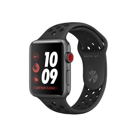 Apple Watch Nike+ Series 3 (GPS) - 42 mm - space gray aluminum - smart watch with Nike sport band - fluoroelastomer - anthracite/black - band size 5.51 in - 8.27 in - 8 GB - Wi-Fi, Bluetooth - 1.14 oz - Witches From Wizard Of Oz