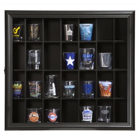 Pinnacle Frame Shot Glass Case, Black ()