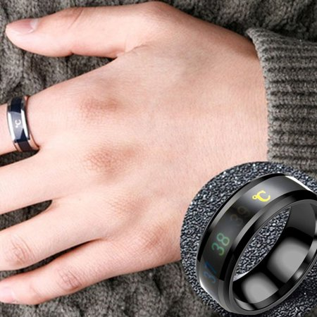 Ring for Lovers Smart Temperature Ring Display Ring Men and Women Gift - image 4 of 6