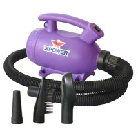 Portable Home Pet Grooming Force Hair Dryer And Vacuum, 920 Watts, 2 Speed Settings, Purple (New Open Box)