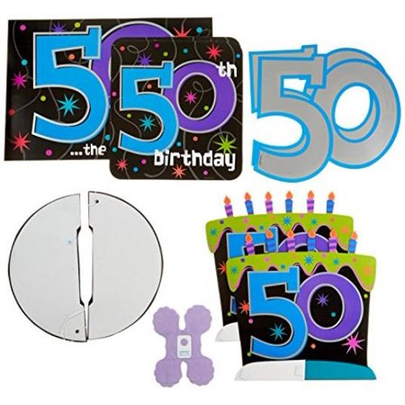 50th Birthday Novelties (The Party Continues 50th Birthday Decorating Kit, 10)