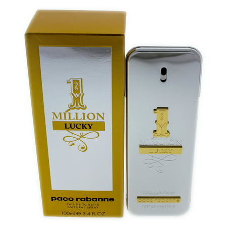 1 Million Lucky by Paco Rabanne for Men - 3.4 oz EDT Spray