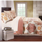 Global trends tripoli bedding quilt set, Twin Orange