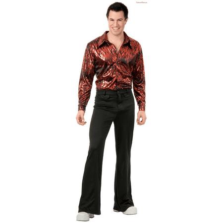 Disco Shirt - Flame Hologram Adult Plus Costume (Halloween Hologram)
