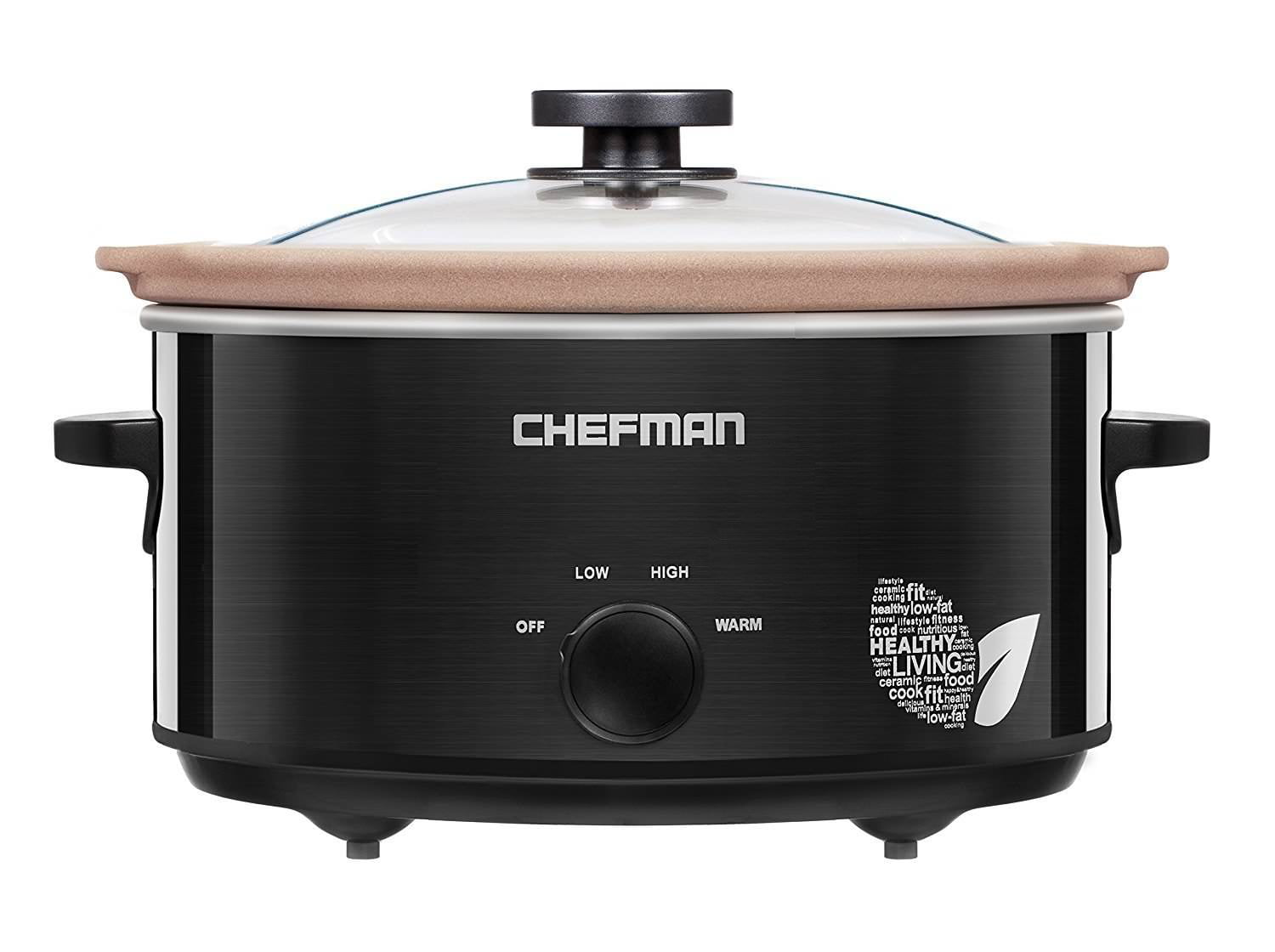5QT Slow Cooker with Natural StoNeware Insert by Chefman