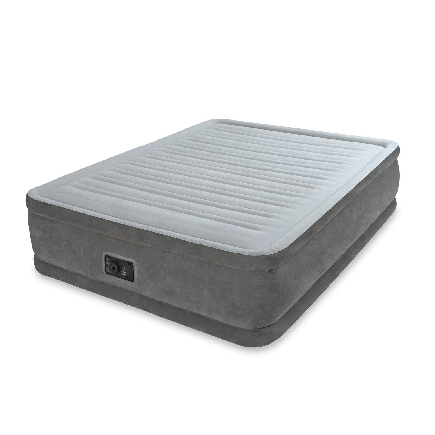 "Intex Queen 18"" Elevated Premium Comfort Plush Airbed Mattress with Built-in Pump by Intex"
