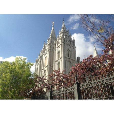 Canvas Print Mormon Landmark Temple Temple Square Salt Lake City Stretched Canvas 10 x 14 ()