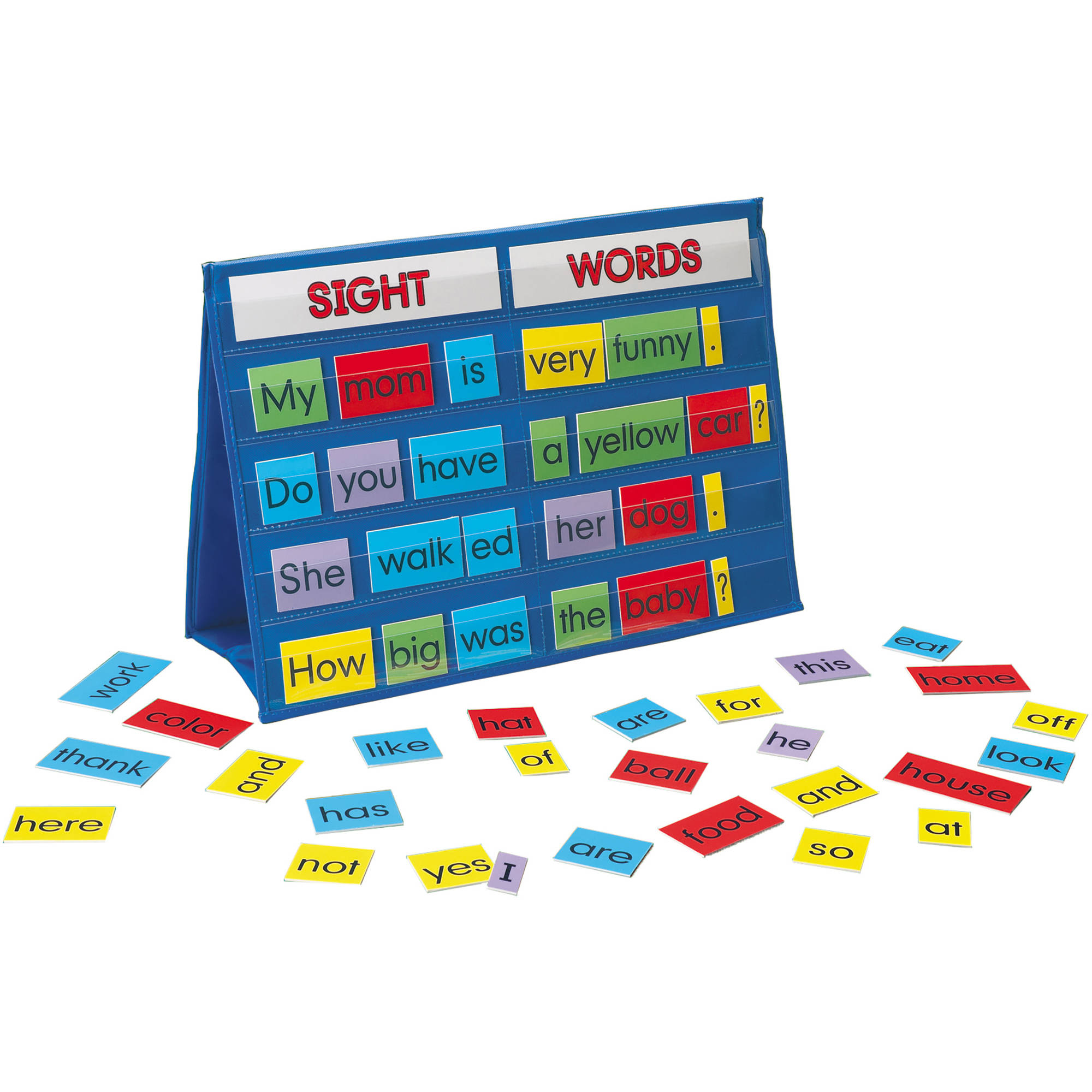 LAURI Tabletop Pocket Chart, Sight Words