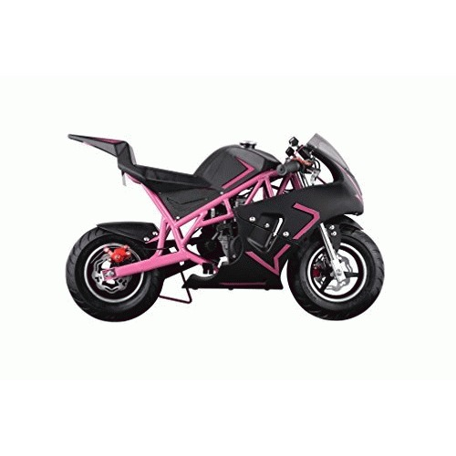 New 40CC 4-Stroke Gas Power Mini Pocket Motorcycle Ride-on Bike, EPA Certificated (Pink/Black)