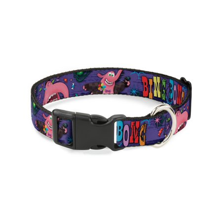 Buckle-Down Bing Bong Poses/Candy Purples/Multicolor Disney Dog Collar Plastic Clip Buckle,